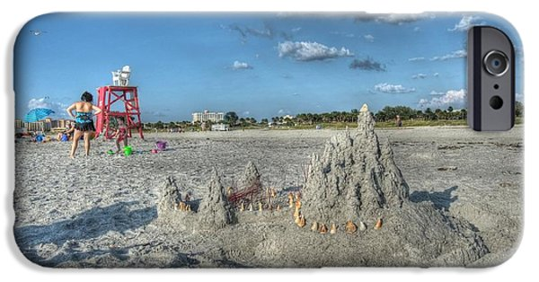 Sand Castles iPhone Cases - Sand Castle iPhone Case by William Ragan