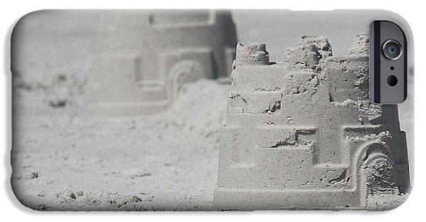 Sand Castles iPhone Cases - Sand Castles iPhone Case by Cathy Lindsey