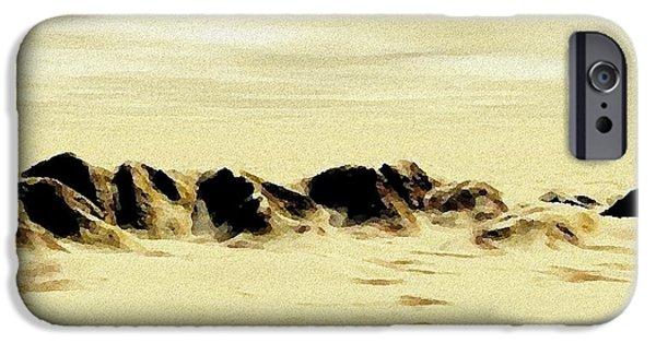 Desert Digital Art iPhone Cases - Sand Desert iPhone Case by Anastasiya Malakhova
