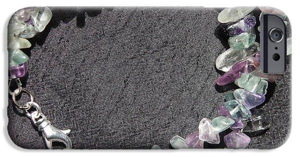 Ocean Jewelry iPhone Cases - Sand Dollar Bracelet iPhone Case by Megan Cohen