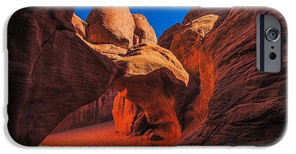 Interior Scene iPhone Cases - Sand Dune Arch iPhone Case by Paul Freidlund