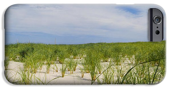 Sand Dunes iPhone Cases - Sand Dunes At Crane Beach, Ipswich iPhone Case by Panoramic Images