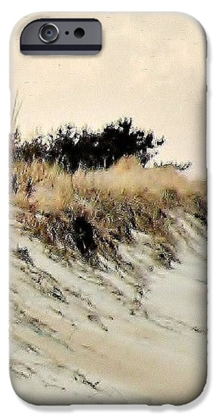 Sand Dunes at Penny Beach iPhone Case by Kim Bemis