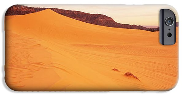 Sand Dunes iPhone Cases - Sand Dunes In A Desert, Coral Pink Sand iPhone Case by Panoramic Images