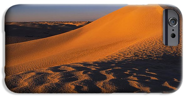 Sand Dunes iPhone Cases - Sand Dunes In A Desert, Douz, Tunisia iPhone Case by Panoramic Images