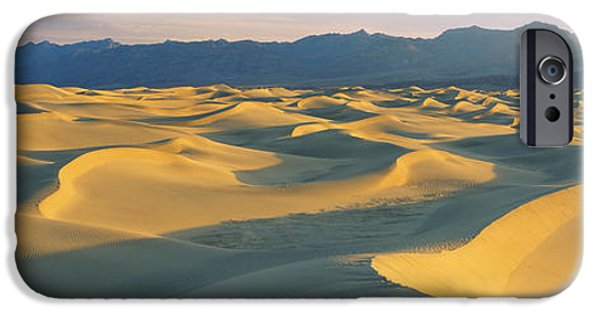 Sand Dunes iPhone Cases - Sand Dunes In A Desert, Grapevine iPhone Case by Panoramic Images