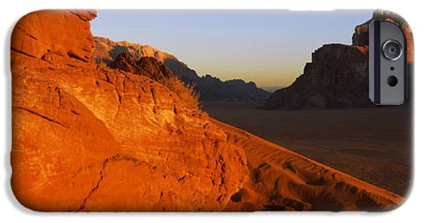 Sand Dunes iPhone Cases - Sand Dunes In A Desert, Jebel Um iPhone Case by Panoramic Images