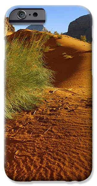 Sand Dunes iPhone Cases - Sand Dunes In A Desert, Jordan iPhone Case by Panoramic Images