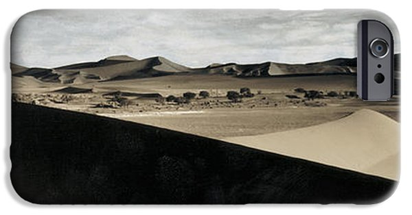 Sand Dunes iPhone Cases - Sand Dunes In A Desert, Namib Desert iPhone Case by Panoramic Images