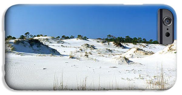 Florida Panhandle iPhone Cases - Sand Dunes In A Desert, St. George iPhone Case by Panoramic Images
