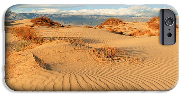 Sand Dunes iPhone Cases - Sand Dunes In A National Park, Mesquite iPhone Case by Panoramic Images
