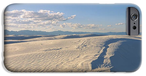 Sand Dunes iPhone Cases - Sand Dunes In Desert, White Sands iPhone Case by Panoramic Images