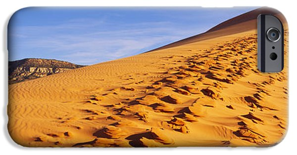 Sand Dunes iPhone Cases - Sand Dunes In The Desert, Coral Pink iPhone Case by Panoramic Images