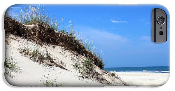 Sand Dunes Mixed Media iPhone Cases - Sand Dunes of Corolla Outer Banks OBX iPhone Case by Design Turnpike