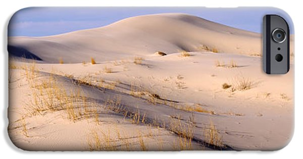 Sand Dunes iPhone Cases - Sand Dunes On An Arid Landscape iPhone Case by Panoramic Images