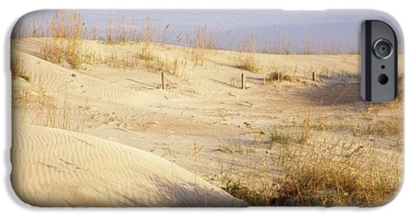 Sand Dunes iPhone Cases - Sand Dunes On The Beach, Anastasia iPhone Case by Panoramic Images