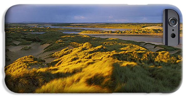 Sand Dunes iPhone Cases - Sand Dunes On The Beach, Newburgh iPhone Case by Panoramic Images