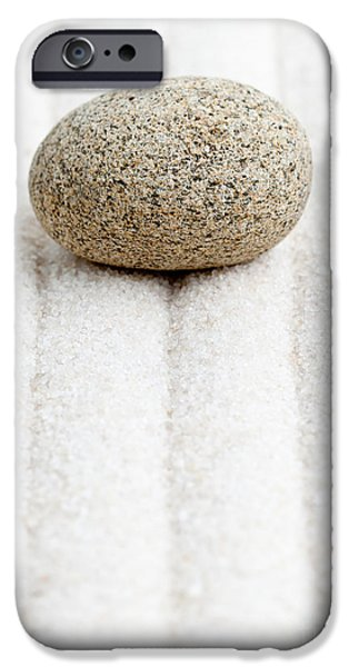 Zen Sculptures iPhone Cases - Sand garden iPhone Case by Shawn Hempel