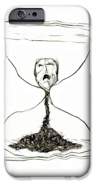 Dismay iPhone Cases - Sand Glass iPhone Case by Michal Boubin