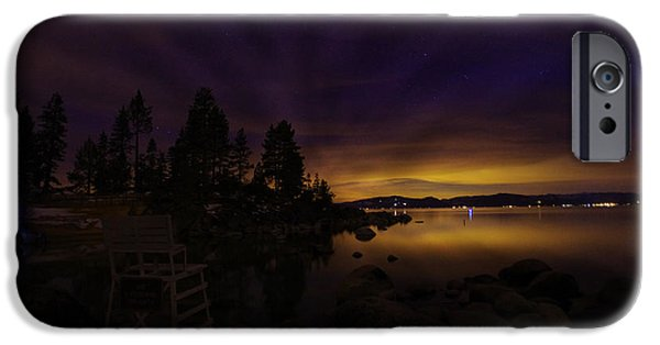 Astrophotography iPhone Cases - Sand Harbor Lake Tahoe Astrophotography iPhone Case by Scott McGuire