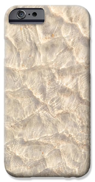Abstract iPhone Cases - Beach Sand under the water					 iPhone Case by Zina Stromberg