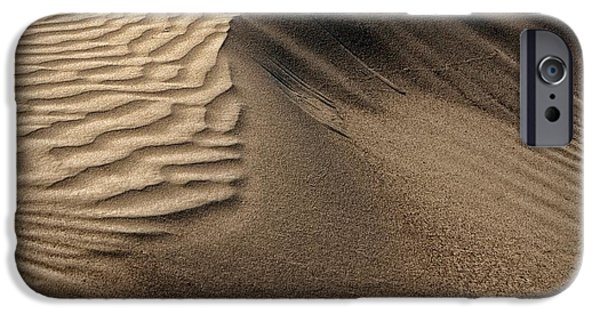 Natural Forces iPhone Cases - Sand Pattern Abstract #2 iPhone Case by Nikolyn McDonald