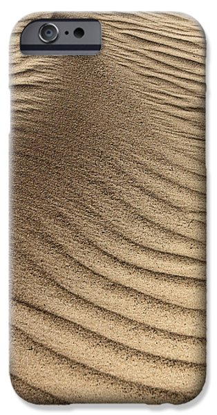 Natural Forces iPhone Cases - Sand Pattern Abstract #3 iPhone Case by Nikolyn McDonald