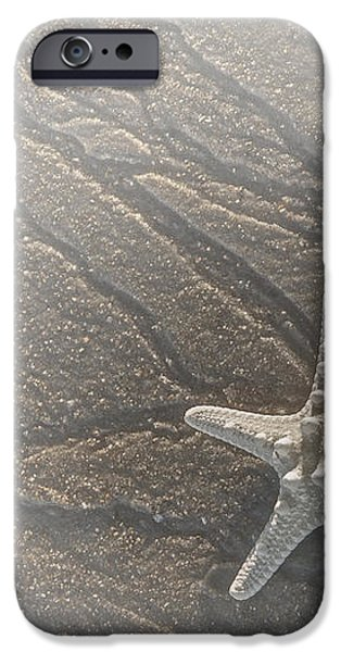 Sand Prints and Starfish II iPhone Case by Susan Candelario