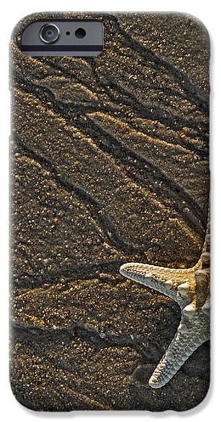 Sand Prints and Starfish  iPhone Case by Susan Candelario