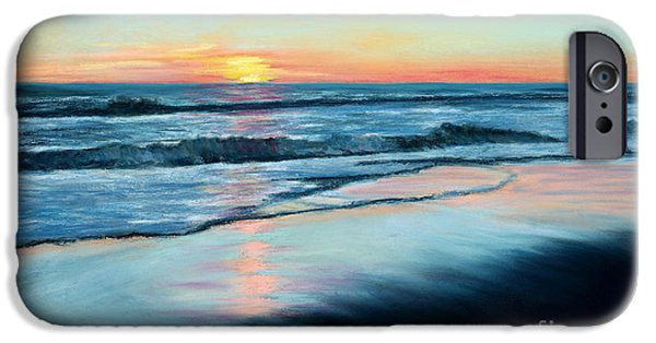 Marine Pastels iPhone Cases - Sand Reflections iPhone Case by Mary Benke