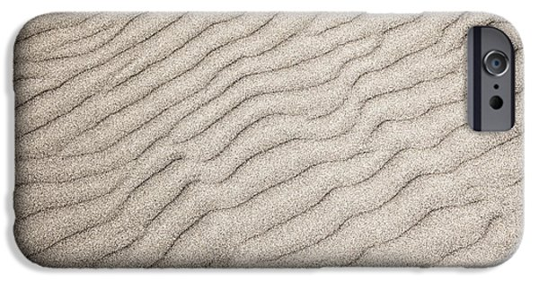 Wavy iPhone Cases - Sand ripples natural abstract iPhone Case by Elena Elisseeva
