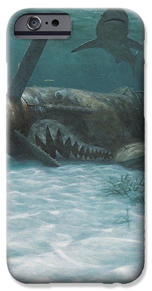 Marine iPhone Cases - Sand Shark iPhone Case by Randall Scott