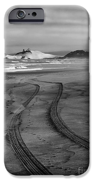 Sand Dunes iPhone Cases - Sand Tracks iPhone Case by Mike Dawson