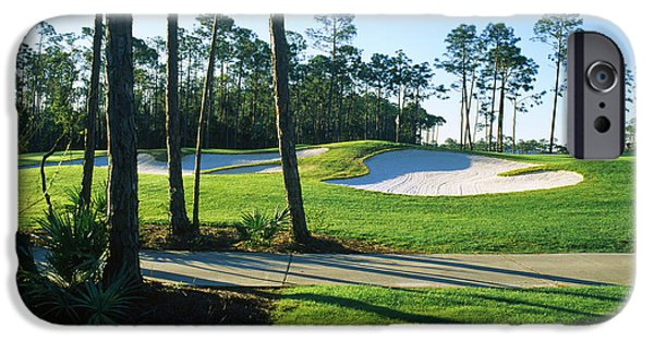 Regatta iPhone Cases - Sand Trap In A Golf Course, Regatta Bay iPhone Case by Panoramic Images