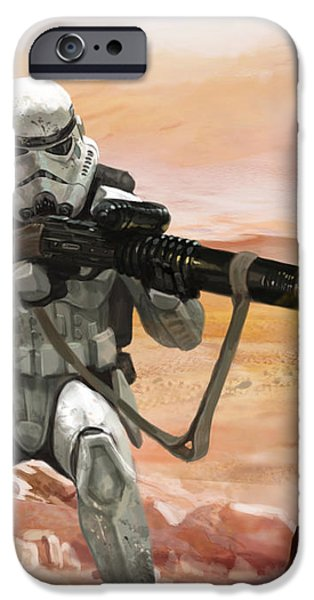 Sand Trooper - Star Wars the Card Game iPhone Case by Ryan Barger