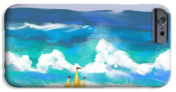 Sand Castles iPhone Cases - Sandcastle At The Beach iPhone Case by Randy Kaufman
