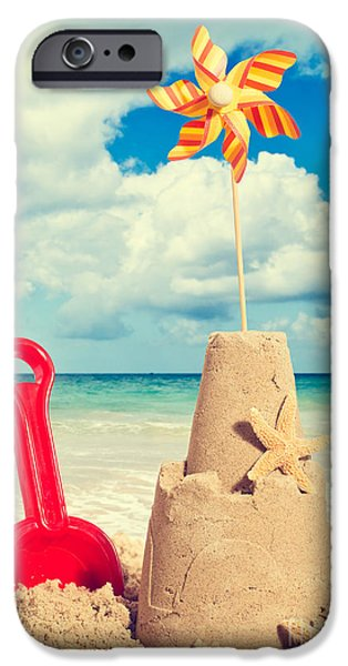 Sandcastles iPhone Cases - Sandcastle iPhone Case by Amanda And Christopher Elwell