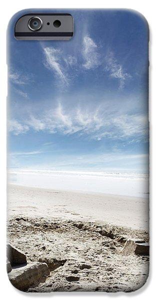 Sand Castles Photographs iPhone Cases - Sandcastle iPhone Case by Les Cunliffe