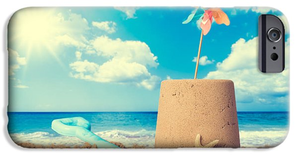 Sandcastle iPhone Cases - Sandcastle On Beach iPhone Case by Amanda And Christopher Elwell