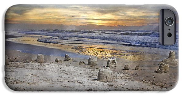 Sand Castles iPhone Cases - Sandcastle Sunrise iPhone Case by Betsy A  Cutler