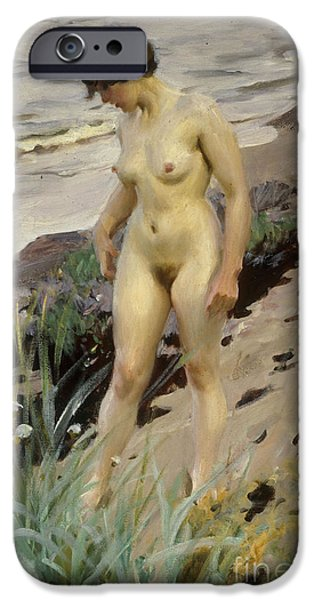 Figure iPhone Cases - Sandhamn Study iPhone Case by Anders Leonard Zorn