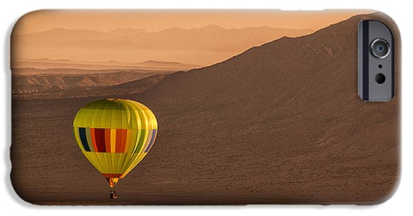 Hot Air Balloon iPhone Cases - Sandia Peak iPhone Case by Keith Berr