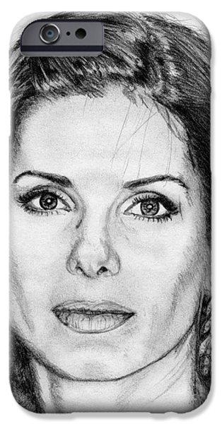 Sandra Bullock in 2005 iPhone Case by J McCombie