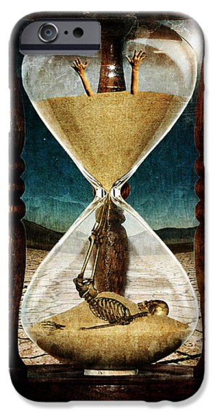Bone iPhone Cases - Sands of Time ... Memento Mori  iPhone Case by Marian Voicu