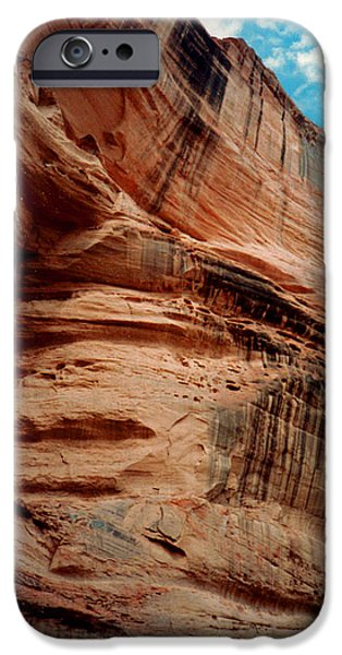 Sandstone Cliff in Canyon de Chelly 1993 iPhone Case by Connie Fox