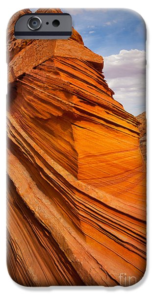 Harsh iPhone Cases - Sandstone Flatiron iPhone Case by Inge Johnsson