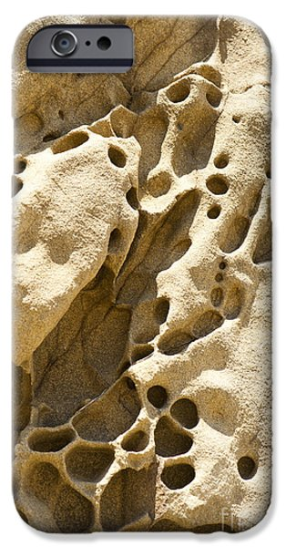 Holes In Sandstone iPhone Cases - Sandstone Rock Formation Two at Big Sur  iPhone Case by Artist and Photographer Laura Wrede
