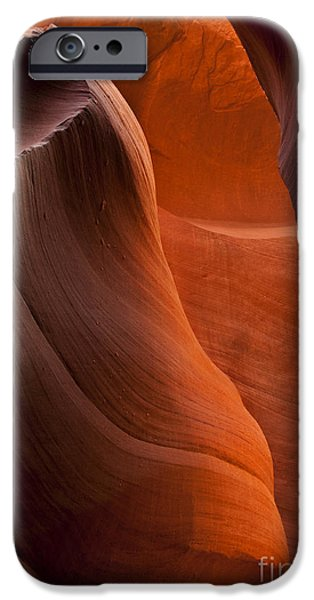 Red Rock iPhone Cases - Sandstone Split iPhone Case by Mike  Dawson