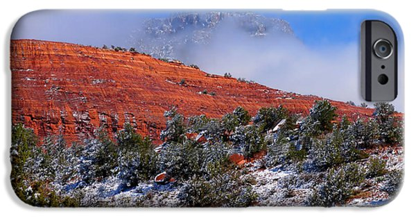 Sedona iPhone Cases - Sandstone Winter iPhone Case by Mountain Dreams