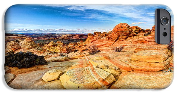 Slickrock iPhone Cases - Sandstone Wonders iPhone Case by Chad Dutson